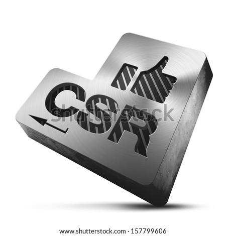 CSR like button - stock photo