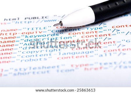 Css code - stock photo