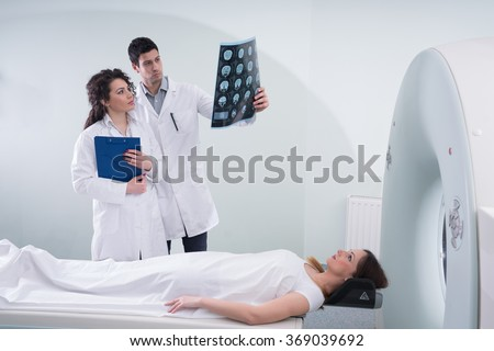CT Scan in modern hospital - stock photo