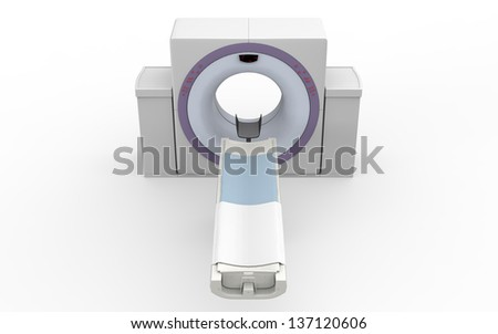 CT Scanner Tomography Isolated on White Background - stock photo