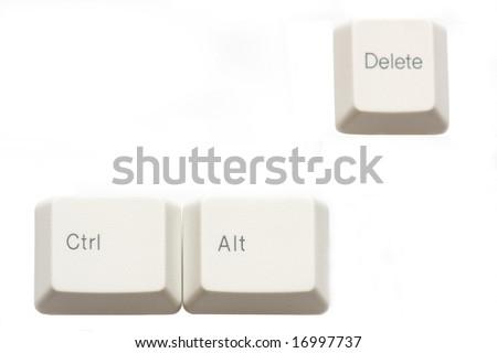 Ctrl, alt, delete - stock photo