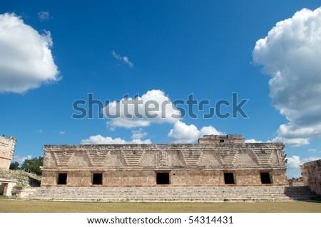 Cuadrangulo de las Monjas, Uxmal, Yucatan, Mexico - stock photo
