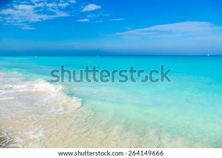 cuba, caribbean, south america. the dream beach of varadero - stock photo