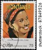 CUBA - CIRCA 1995: A stamp printed in Cuba shows Rita Montaner Cuban singer, pianist, actress and star of stage, film, radio and television, circa 1995 - stock photo