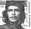 CUBA - CIRCA 2004: Ernesto Che Guevara on 3 Pesos 2004 Banknote from Cuba. - stock photo