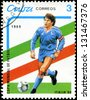 CUBA - CIRCA 1989: stamp printed by Cuba, shows 1990 World Cup Soccer Championships Italy, circa 1989. - stock photo
