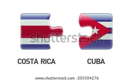 Cuba Costa Rica High Resolution Puzzle Concept