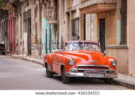 cuba havana april 17 vintage classic stock photo 436534315