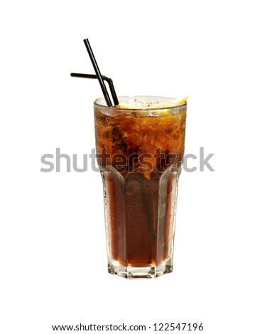 cuba libre isolated on white
