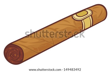 cuban cigar (cartoon cigar) - stock photo