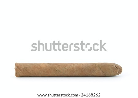 Cuban cigar over white background