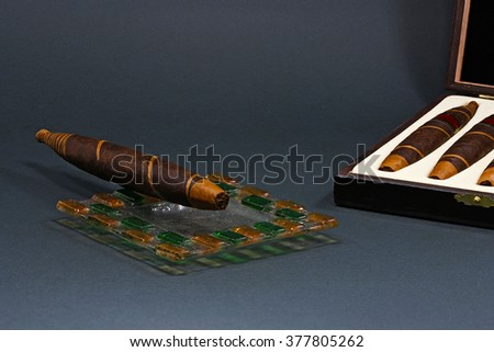Cuban Cigar pack - stock photo