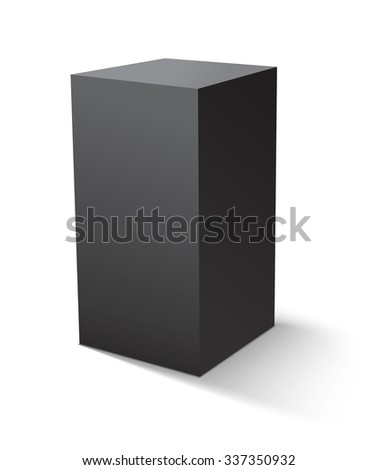 Cube black icon. Template for your design.