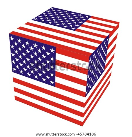 cube from U.S. flag