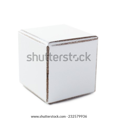 Cube, isolated on white