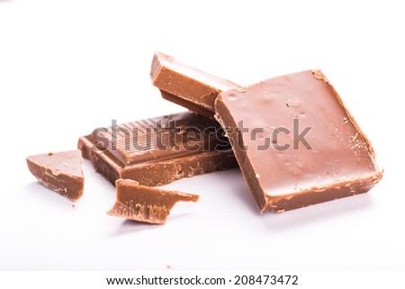 Cube of chocolate - stock photo