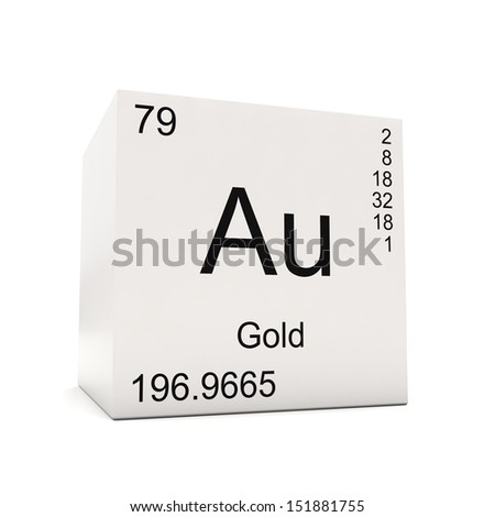 Cube gold element periodic table isolated stock illustration cube of gold element of the periodic table isolated on white background urtaz Choice Image