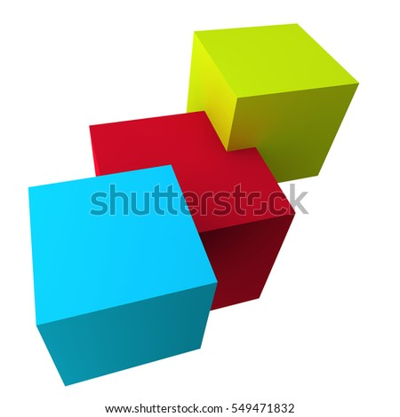 Cube on a light background. 3d image.