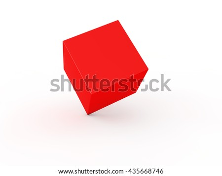Cube on white background. 3d illustration