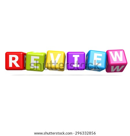 Cube puzzle review image with hi-res rendered artwork that could be used for any graphic design. - stock photo