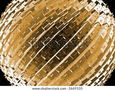 cubes_in_spherical_arrange_in_old_film_style