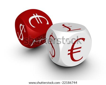 Cubes on white background - stock photo