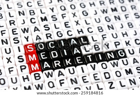 cubes with text  SMM , Social Media Marketing - stock photo
