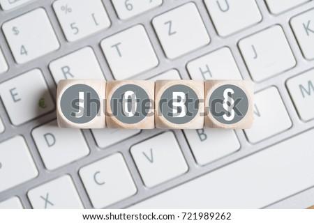 Cubes Word Job Paragraph Symbol On Stock Photo Royalty Free