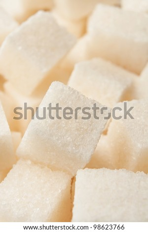 cubic sugar pile in full frame