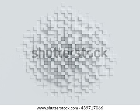 cubical abstract background 3d rendering - stock photo