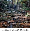 Cucumber Falls in Ohiopyle state park in Pennsylvania - stock photo