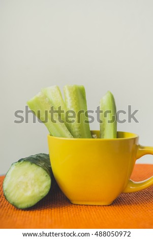 Cucumber in the cup