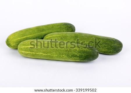 cucumber on isolated background - stock photo