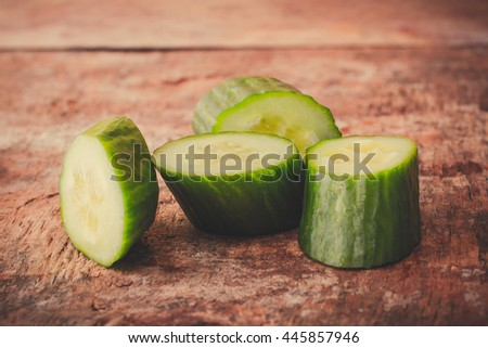 Cucumber on the table.
