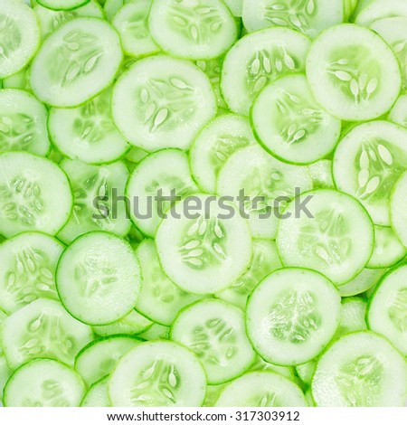 cucumber slice pattern background - stock photo