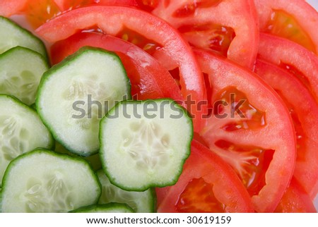 cucumbers and tomatoes background