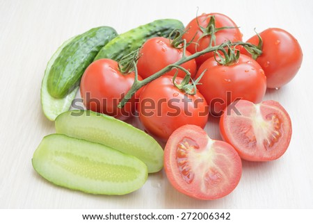 cucumbers sliced �¢??�¢??tomatoes and complete