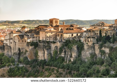 Cuenca (Castilla-La Mancha, Spain), the famous casas colgadas, Unesco World Heritage SIte