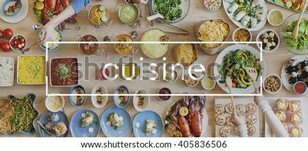 Cuisine Buffet Dining Dinner Gourmet Tasty Concept - stock photo
