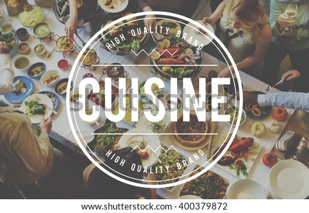 Cuisine Restrurant Kitchen Cafe Food Concept - stock photo
