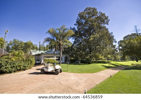 Cullinan Golf course clubhouse - stock photo