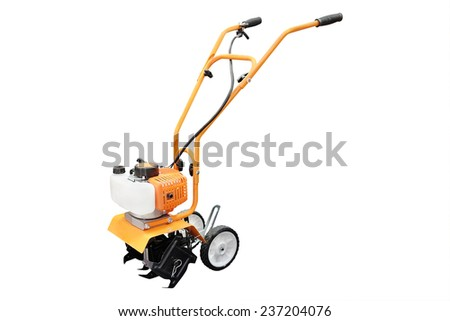 cultivator under the white background - stock photo