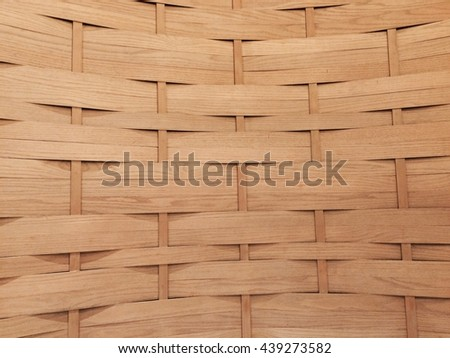 Cultural Asian Round Basket Bamboo Background