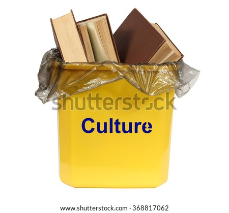 Culture in the bin. Isolation on a white background. Clipping path. - stock photo