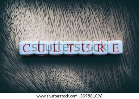 CULTURE word written on white cubes - stock photo