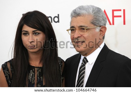 CULVER CITY - JUN 7: Courtenay Semel, Terry Semel at the 40th AFI Life Achievement Award honoring Shirley MacLaine held at Sony Pictures Studios on June 7, 2012 in Culver City, California - stock photo