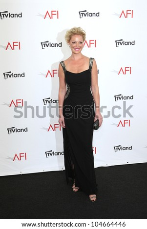 CULVER CITY - JUN 7: Katherine Heigl at the 40th AFI Life Achievement Award honoring Shirley MacLaine held at Sony Pictures Studios on June 7, 2012 in Culver City, California - stock photo