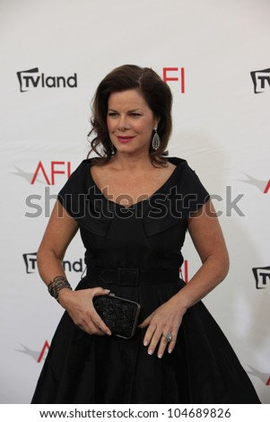 CULVER CITY - JUN 7: Marcia Gay Harden at the 40th AFI Life Achievement Award honoring Shirley MacLaine held at Sony Pictures Studios on June 7, 2012 in Culver City, California - stock photo