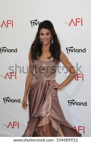 CULVER CITY - JUN 7: Samantha Harris at the 40th AFI Life Achievement Award honoring Shirley MacLaine held at Sony Pictures Studios on June 7, 2012 in Culver City, California - stock photo