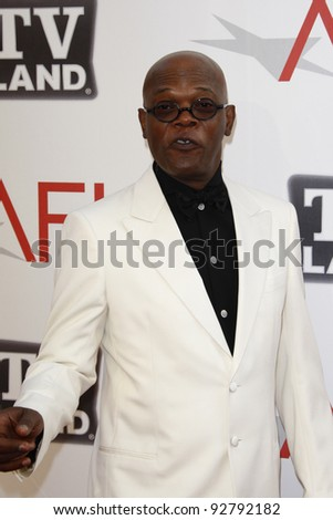 CULVER CITY - JUN 9: Samuel L Jackson at the 39th AFI Life Achievement Award Honoring Morgan Freeman held at Sony Pictures Studios  in Culver City, California on June 9, 2011. - stock photo